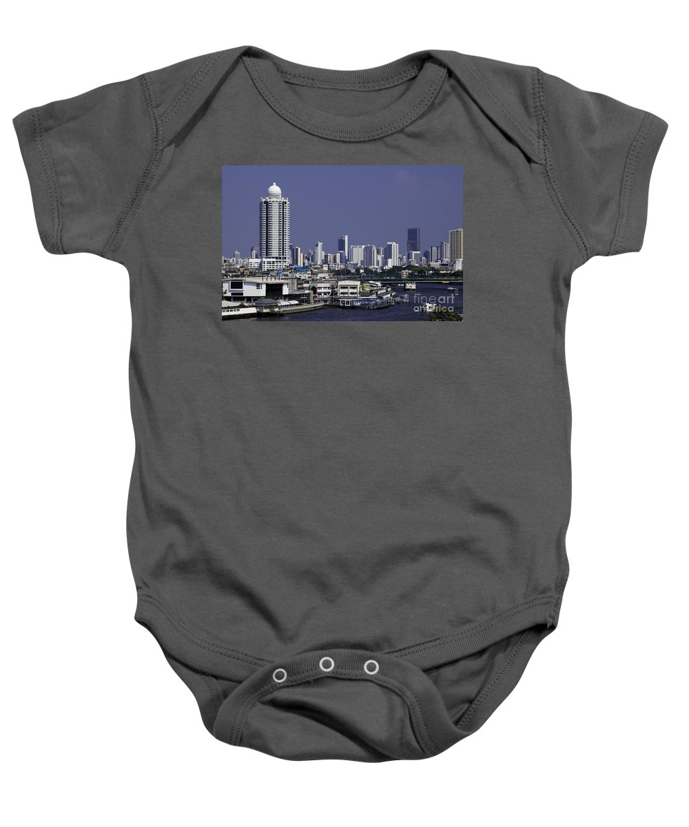 Daytime Baby Onesie featuring the photograph Bangkok Thailand by Anthony Totah