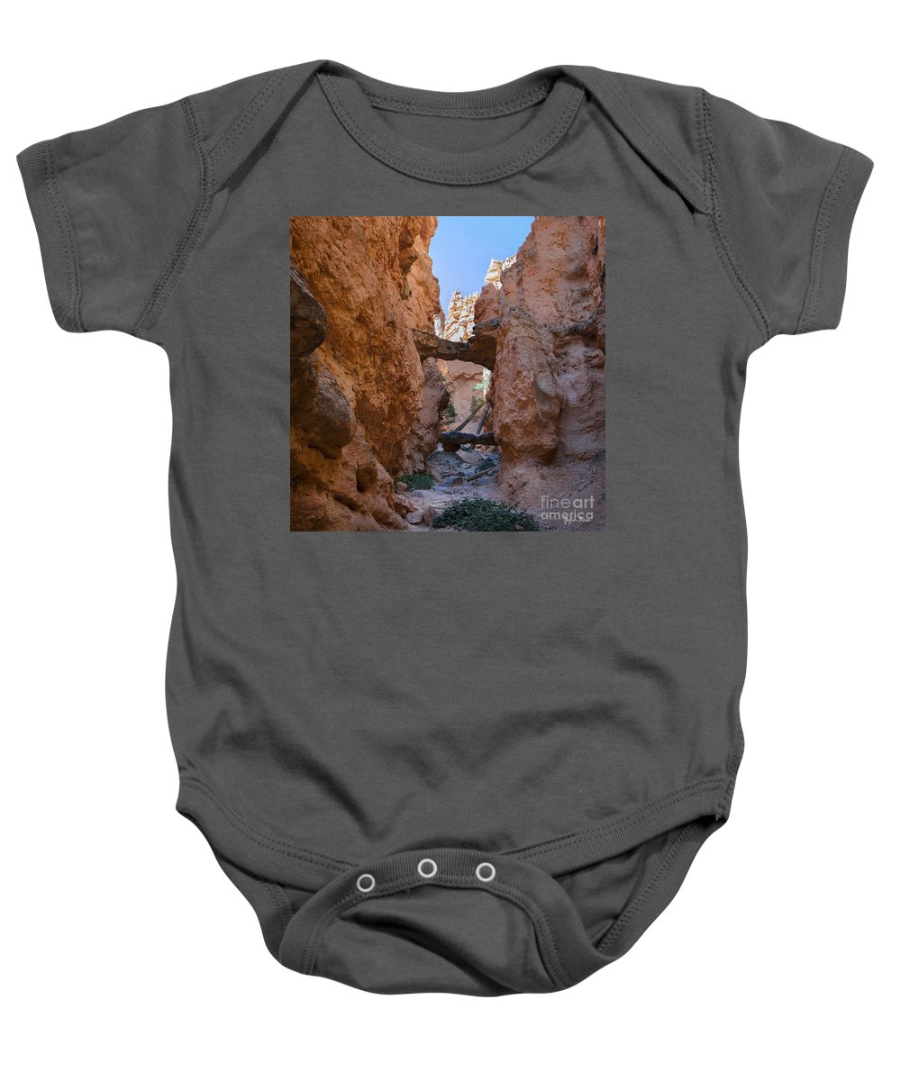 Navajo Trail Natural Bridge Baby Onesie featuring the photograph Navajo Trail Natural Bridge by Yefim Bam