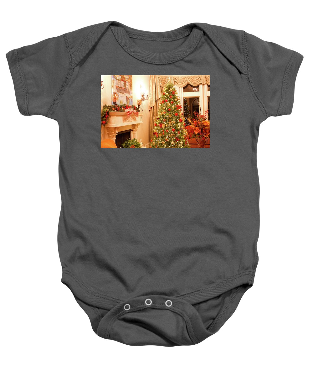 Christmas Baby Onesie featuring the photograph Christmas Tree by Maria Daskalis