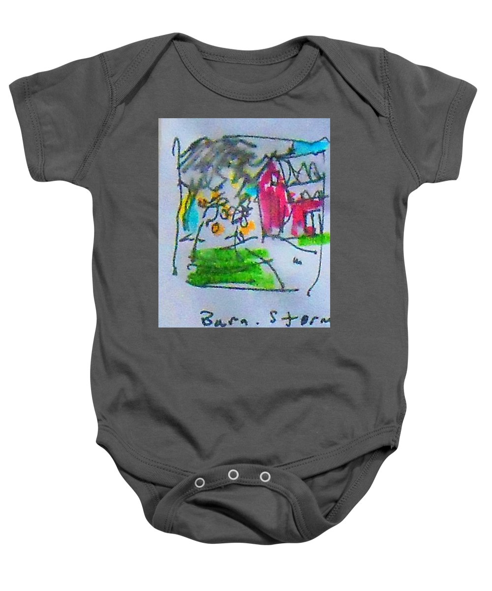 Storm Baby Onesie featuring the mixed media Clouds by Samuel Zylstra
