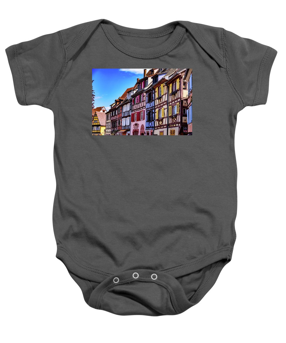 Colmar Baby Onesie featuring the photograph Colmar - France by Jon Berghoff