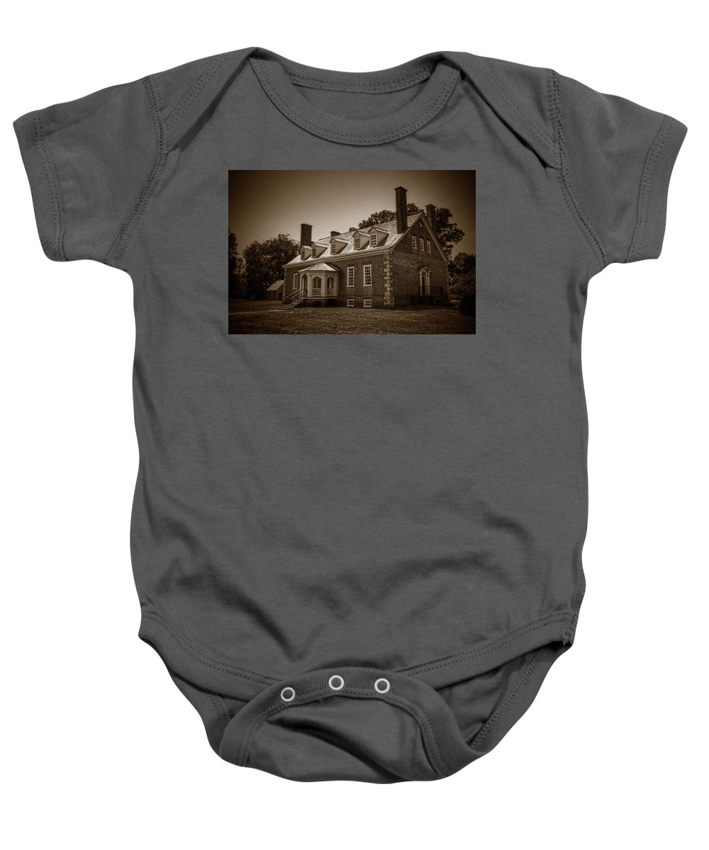 Gunston Hall Baby Onesie featuring the photograph George Mason's Gunston Hall by Craig Fildes