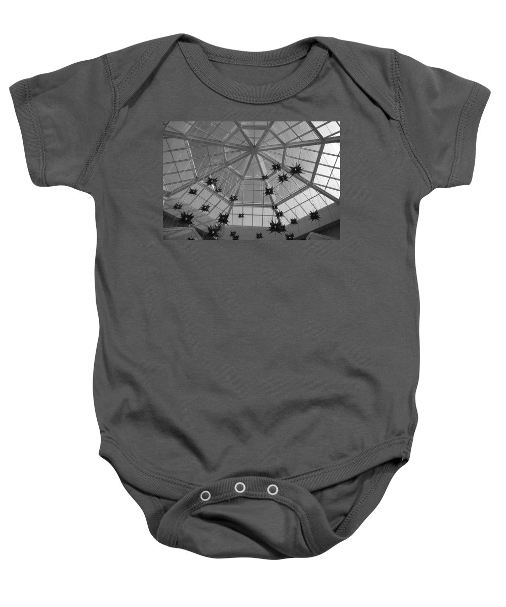 Black And White Baby Onesie featuring the photograph Hanging Butterflies by Rob Hans