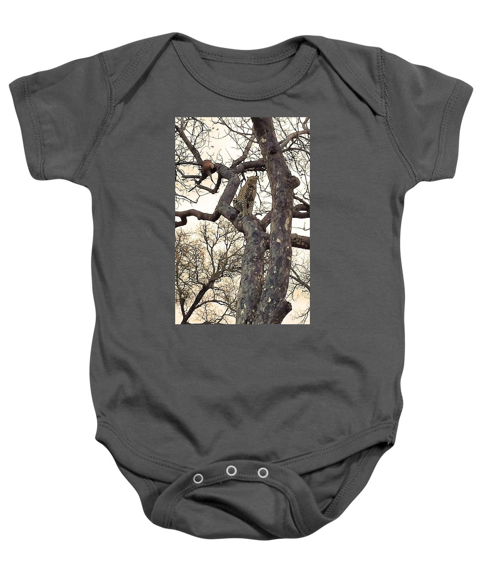 Leopard Baby Onesie featuring the photograph Having A Rest by Lisa Byrne