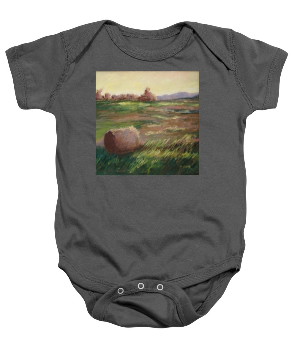 Baby Onesie featuring the pastel Hey There by Pat Snook