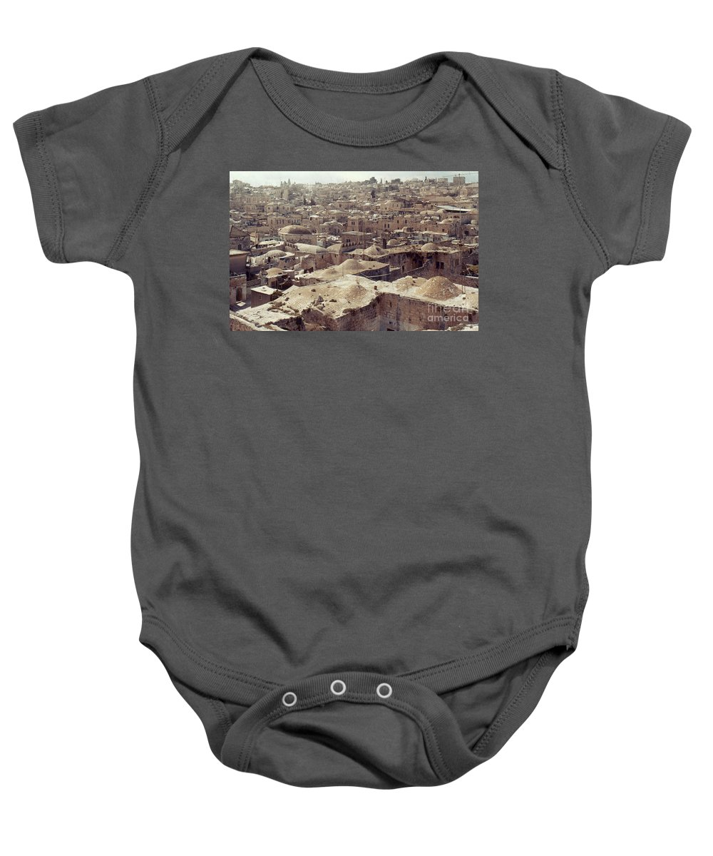 Architecture Baby Onesie featuring the photograph Holy Land: Jerusalem by Granger