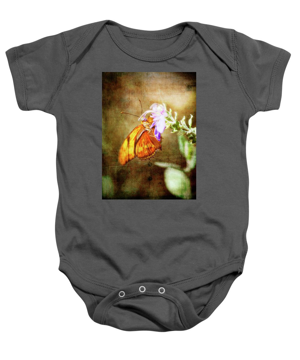 Butterfly Baby Onesie featuring the photograph Julia Butterfly by Saija Lehtonen