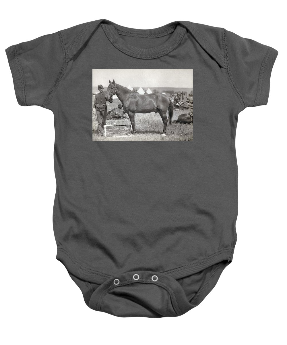 1887 Baby Onesie featuring the photograph Little Bighorn, 1876 by Granger