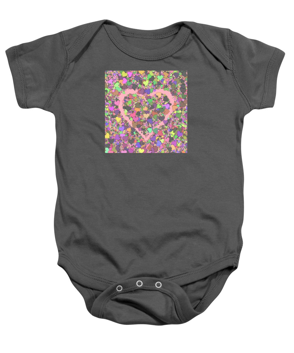 Heart Baby Onesie featuring the digital art Love Heart Valentine Shape by Miroslav Nemecek