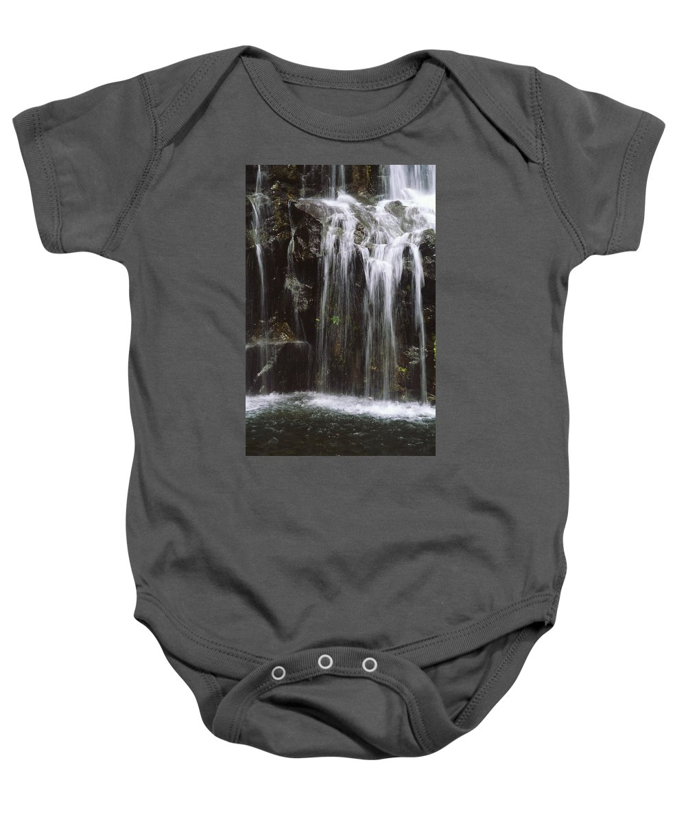 Beautiful Baby Onesie featuring the photograph Maui Waterfall by Himani - Printscapes