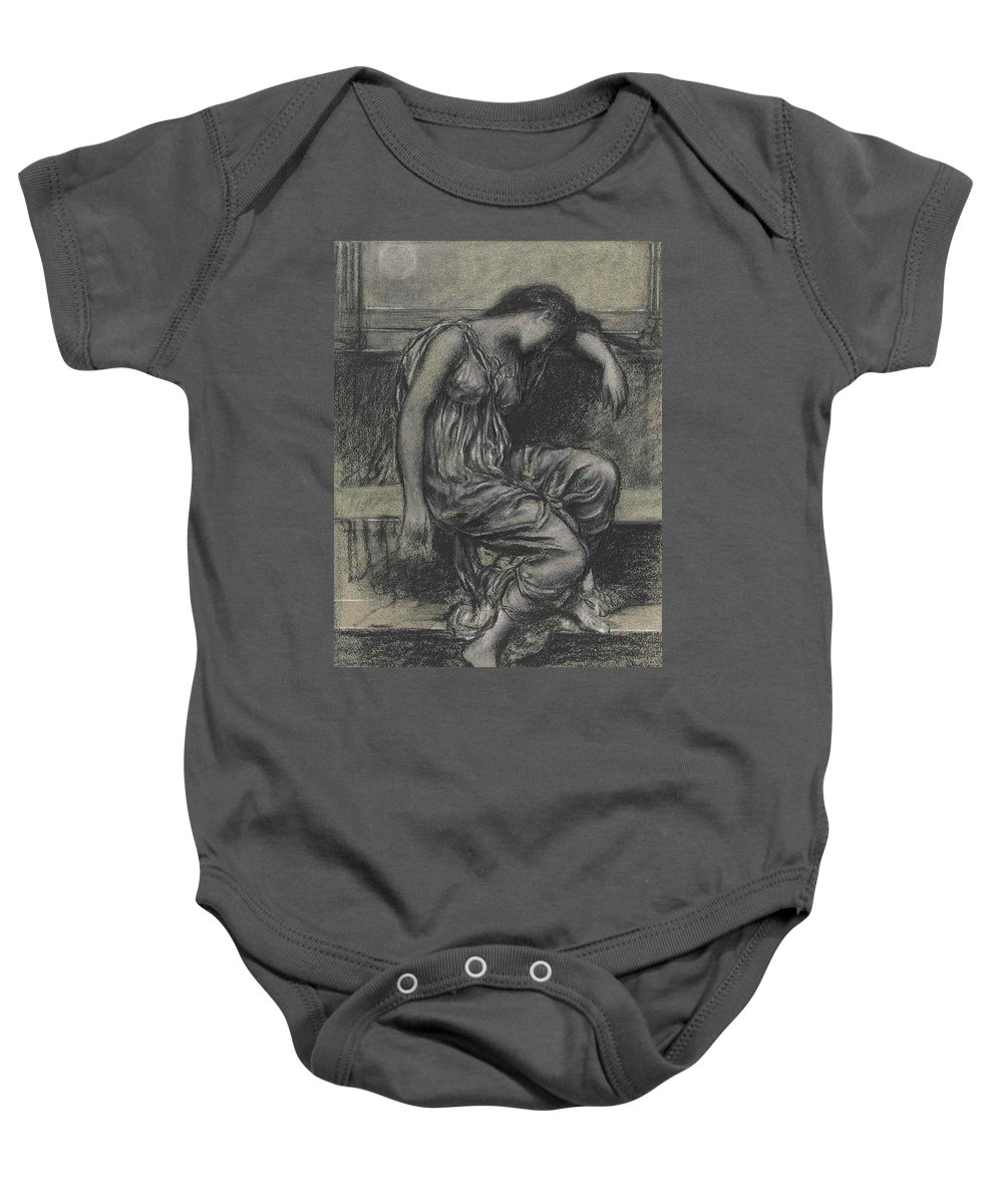 Evelyn De Morgan Baby Onesie featuring the painting Memoriam by MotionAge Designs
