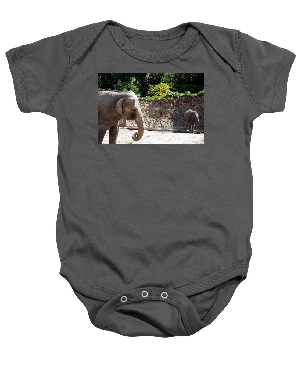 Ft. Worth Baby Onesie featuring the photograph Mother And Child by Kenny Glover