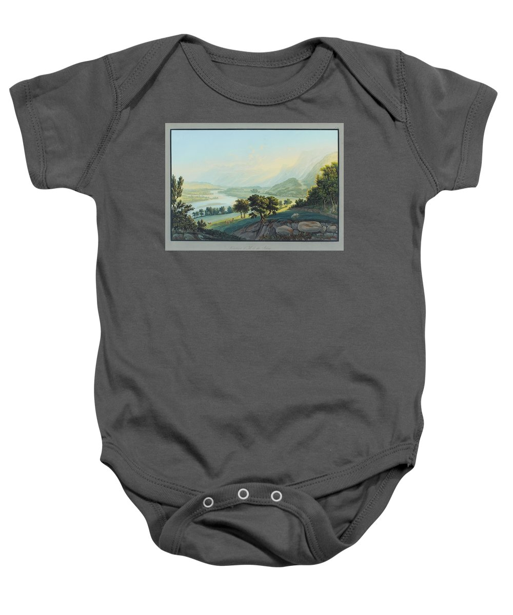 Bleuler Baby Onesie featuring the painting Nature by Johann Ludwig