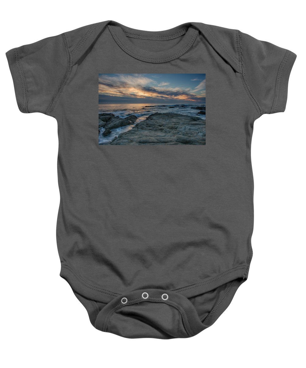 Asilomar Baby Onesie featuring the photograph Pacific Grove Sunset by Bill Roberts