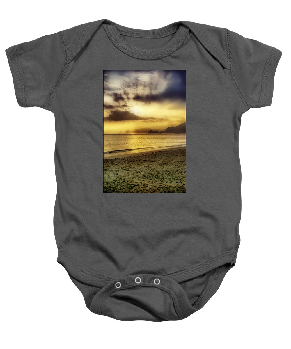 Sunshine Baby Onesie featuring the photograph Sunshine At Puerto Cabello by Galeria Trompiz