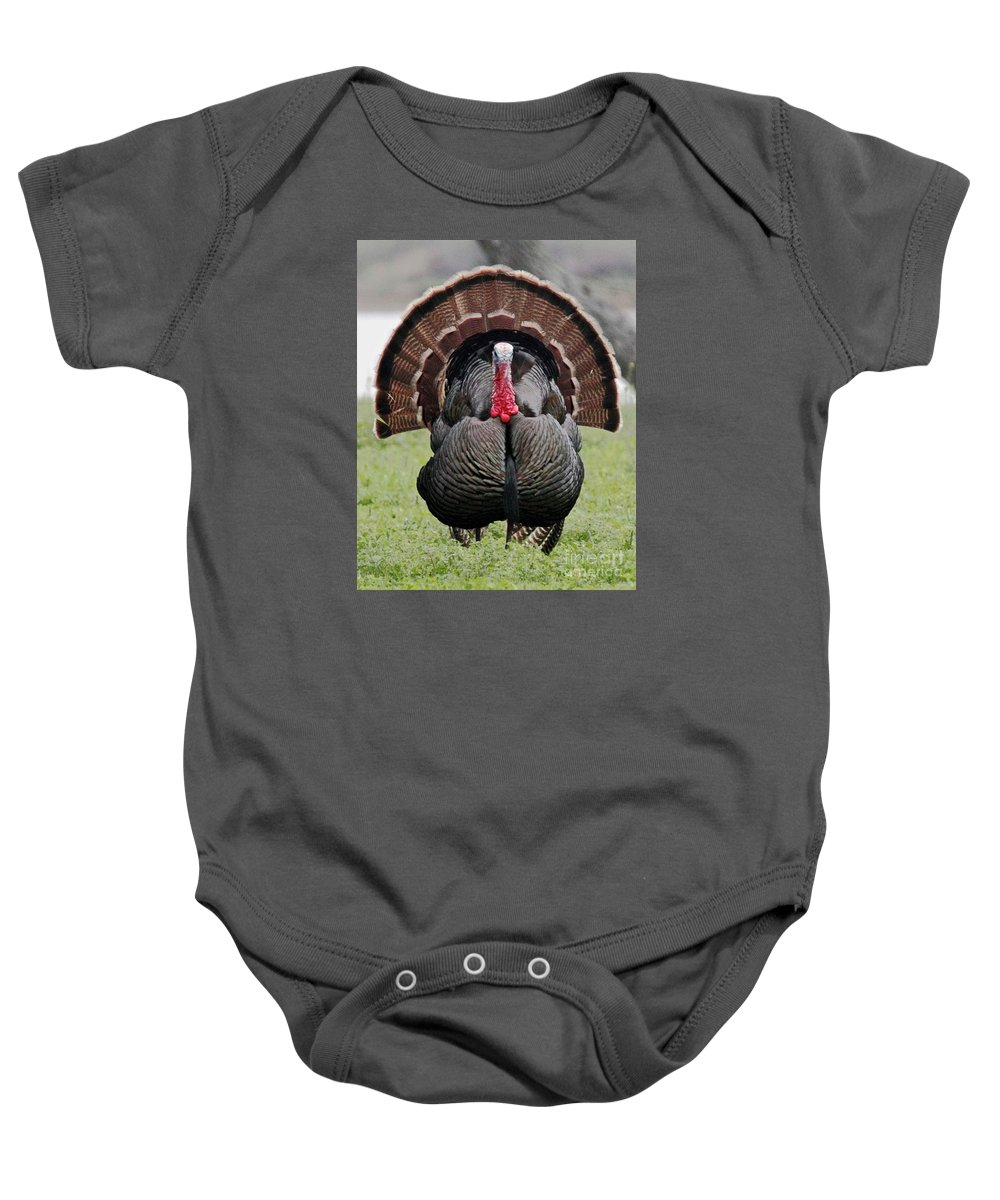 Witchcraft Baby Onesie featuring the digital art Thanksgiving by Frederick Holiday