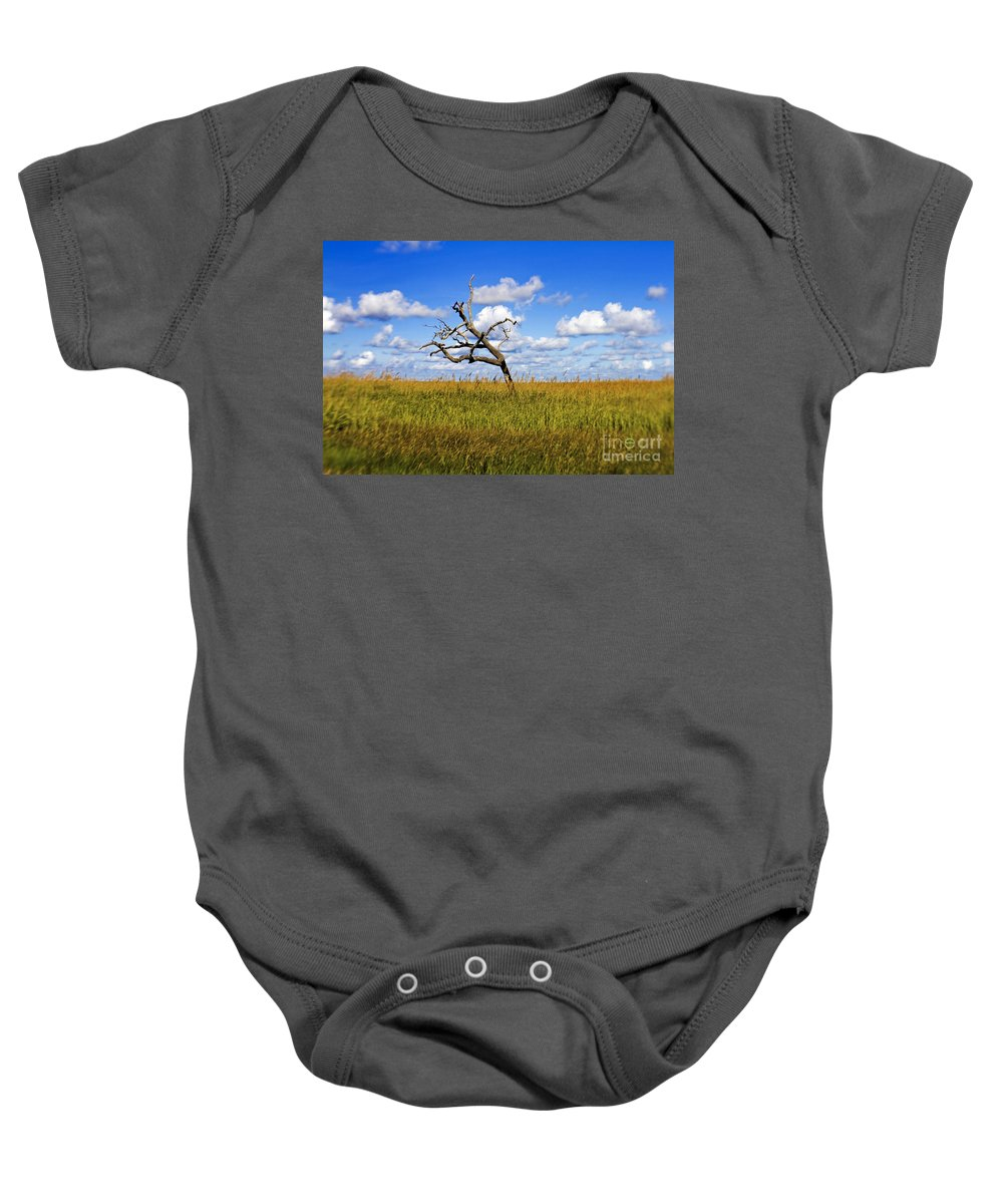 Tree Baby Onesie featuring the photograph The Last One Standing by Scott Pellegrin