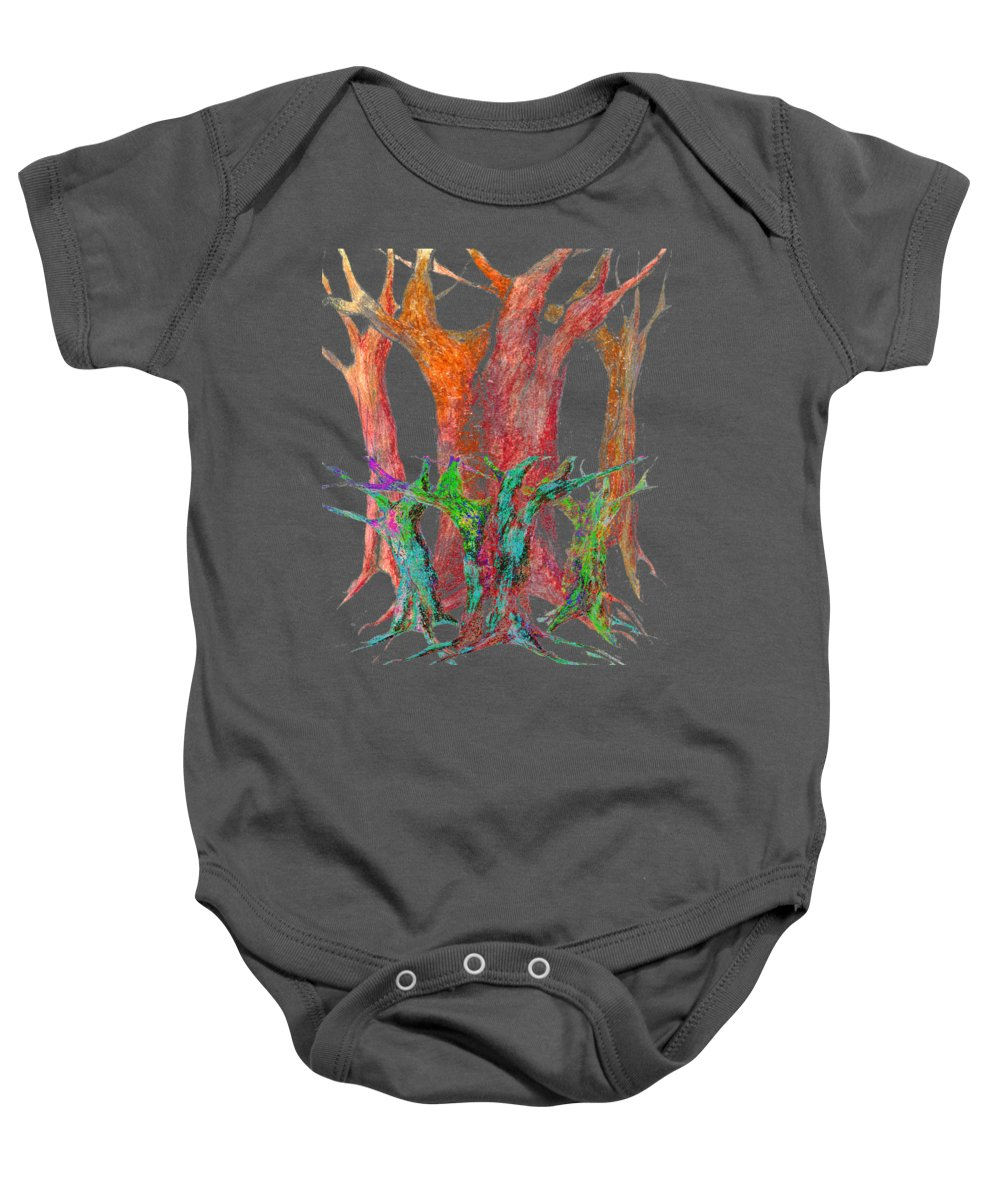 Colour Baby Onesie featuring the digital art They Came To Me At Dawn by Wojtek Kowalski