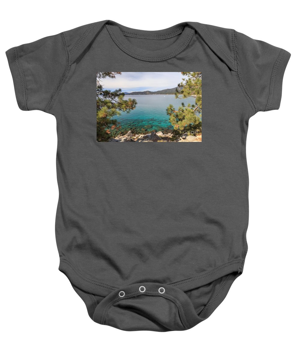 2014 Baby Onesie featuring the photograph View Across Lake Tahoe by Jannis Werner