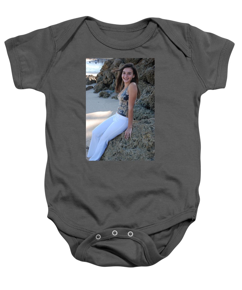 Women Baby Onesie featuring the photograph Gisele by Rob Hans