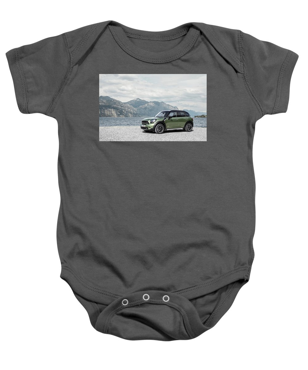 Baby Onesie featuring the digital art 2014 Mini Countryman 2 by Alice Kent