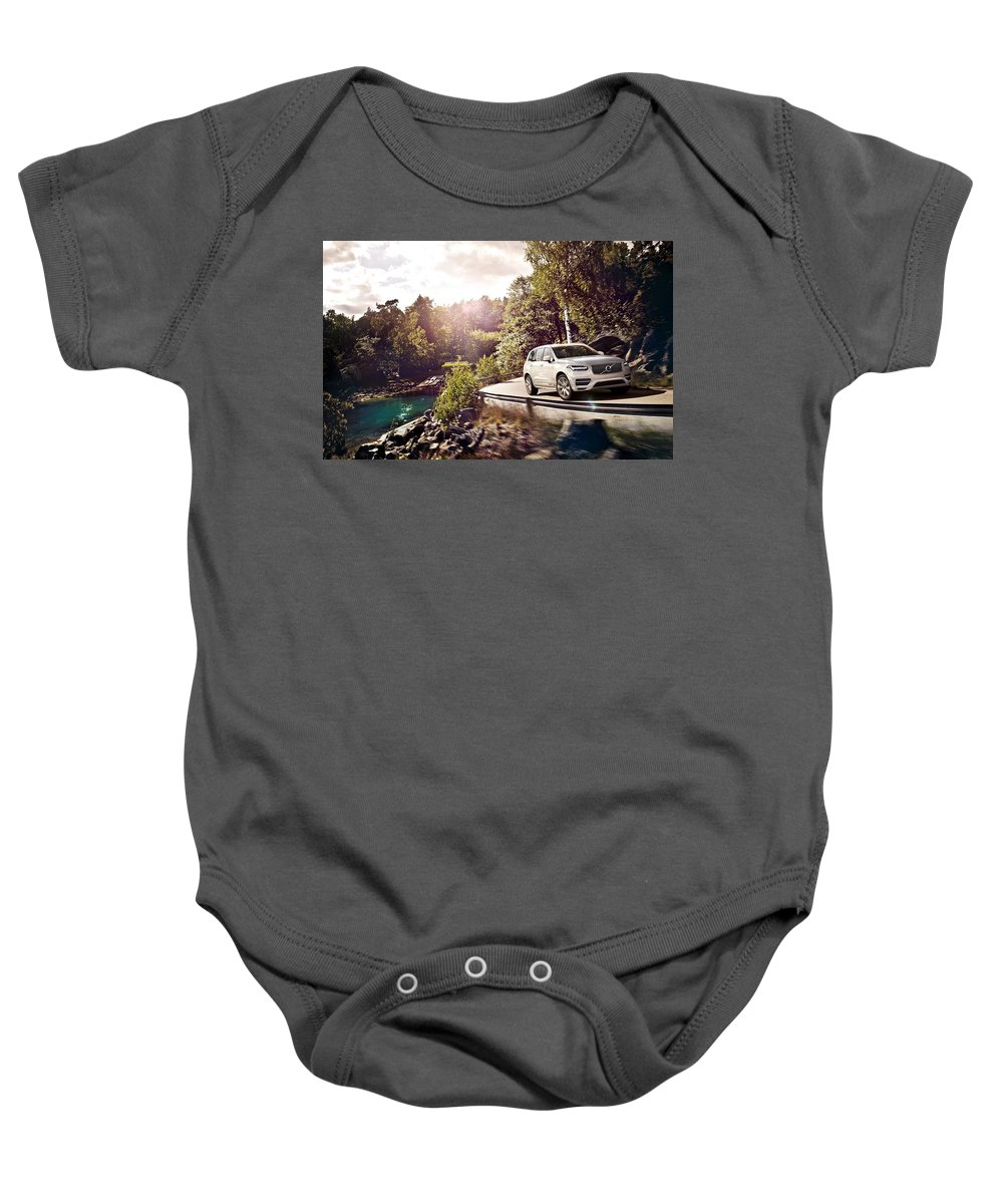 Baby Onesie featuring the digital art 2015 Volvo Xc90 by Alice Kent