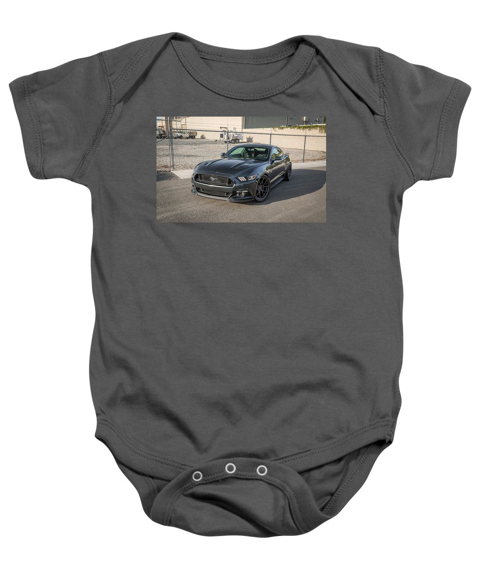 Baby Onesie featuring the digital art 2016 Vorsteiner Ford Mustang Gt V Ff 101 by Alice Kent