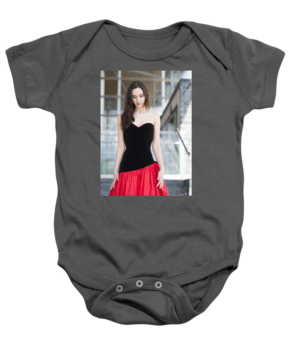 Model Photo Shoot For Revetir By Jenny Potter Baby Onesie featuring the photograph Fashion Shoot by Jenny Potter
