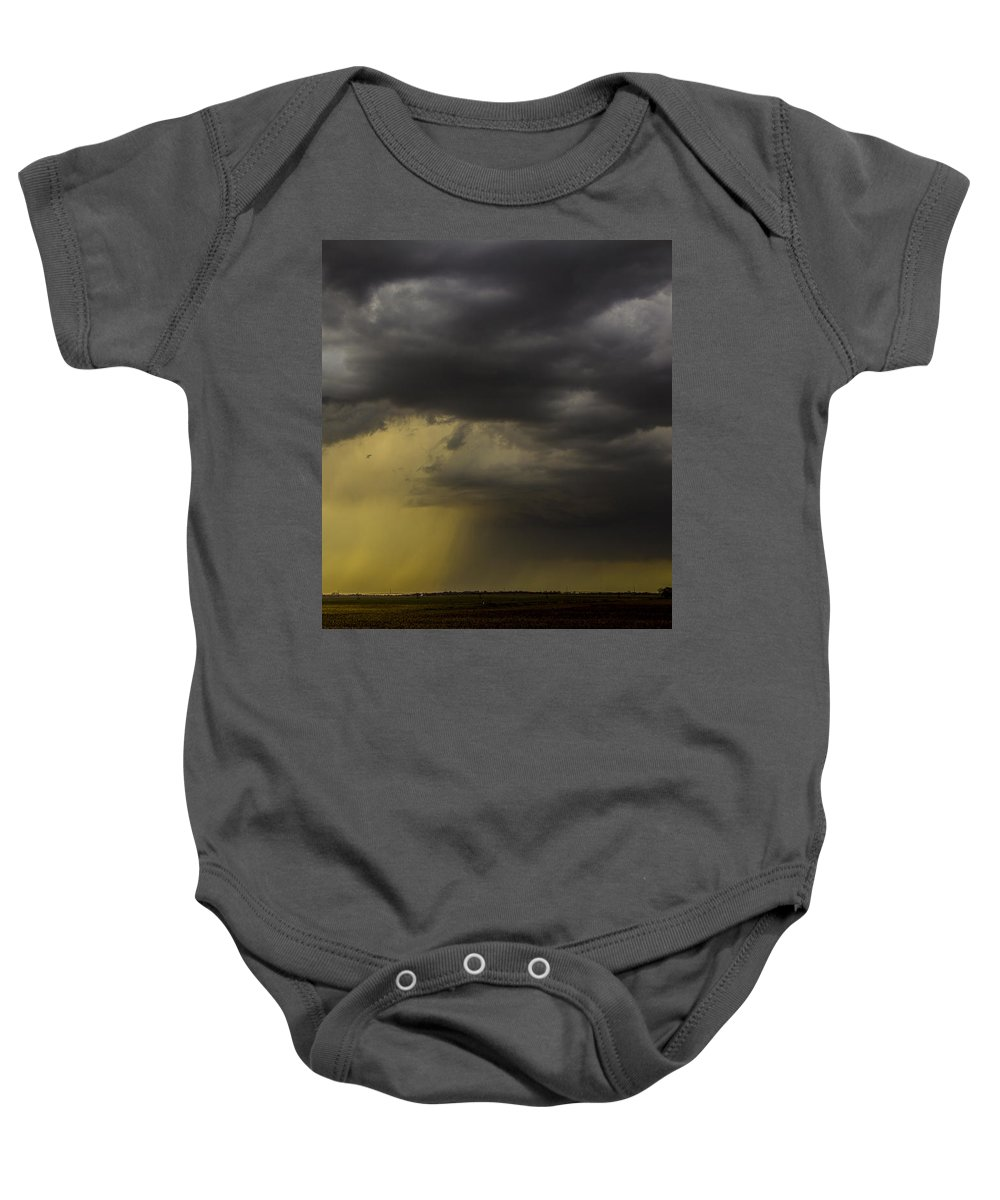 Nebraskasc Baby Onesie featuring the photograph 2nd Storm Chase 2015 by NebraskaSC