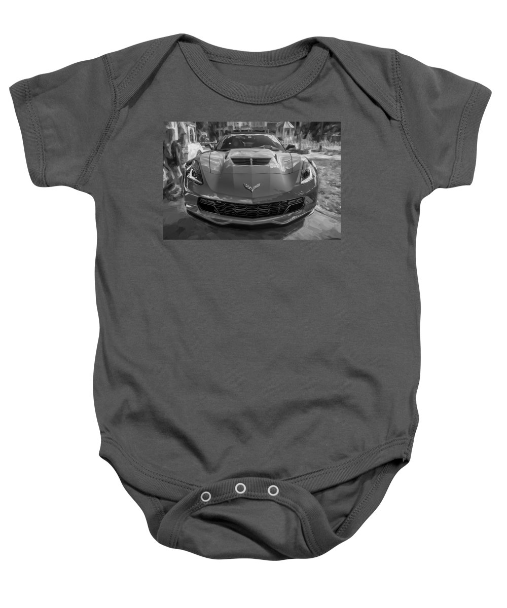 2015 Corvette Baby Onesie featuring the photograph 2015 Chevrolet Corvette Zo6 Painted by Rich Franco