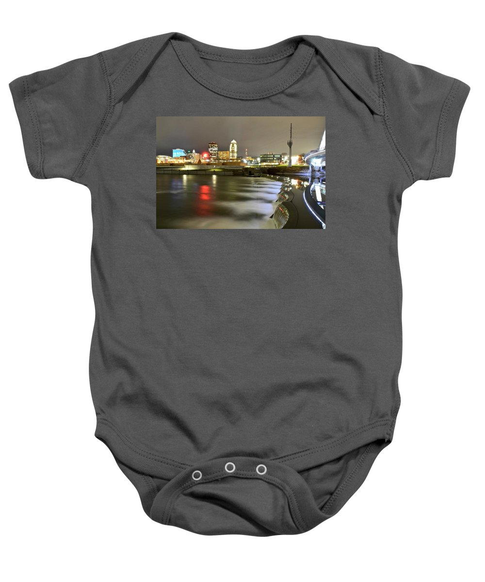 Des Moines Baby Onesie featuring the photograph Des Moines by Justin Langford