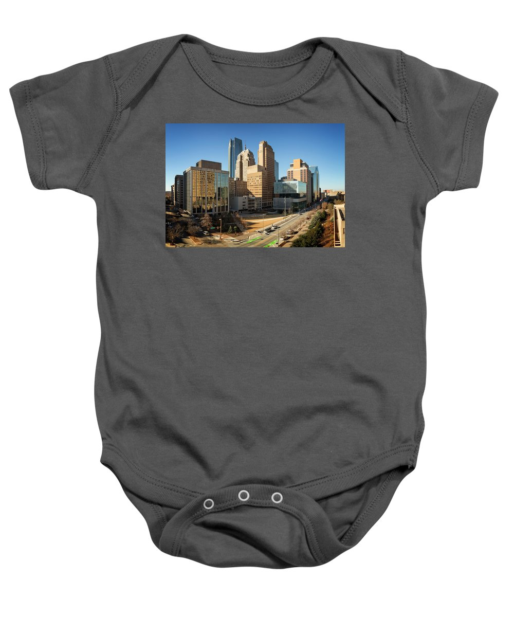 Okc Baby Onesie featuring the photograph Downtown Okc by Ricky Barnard