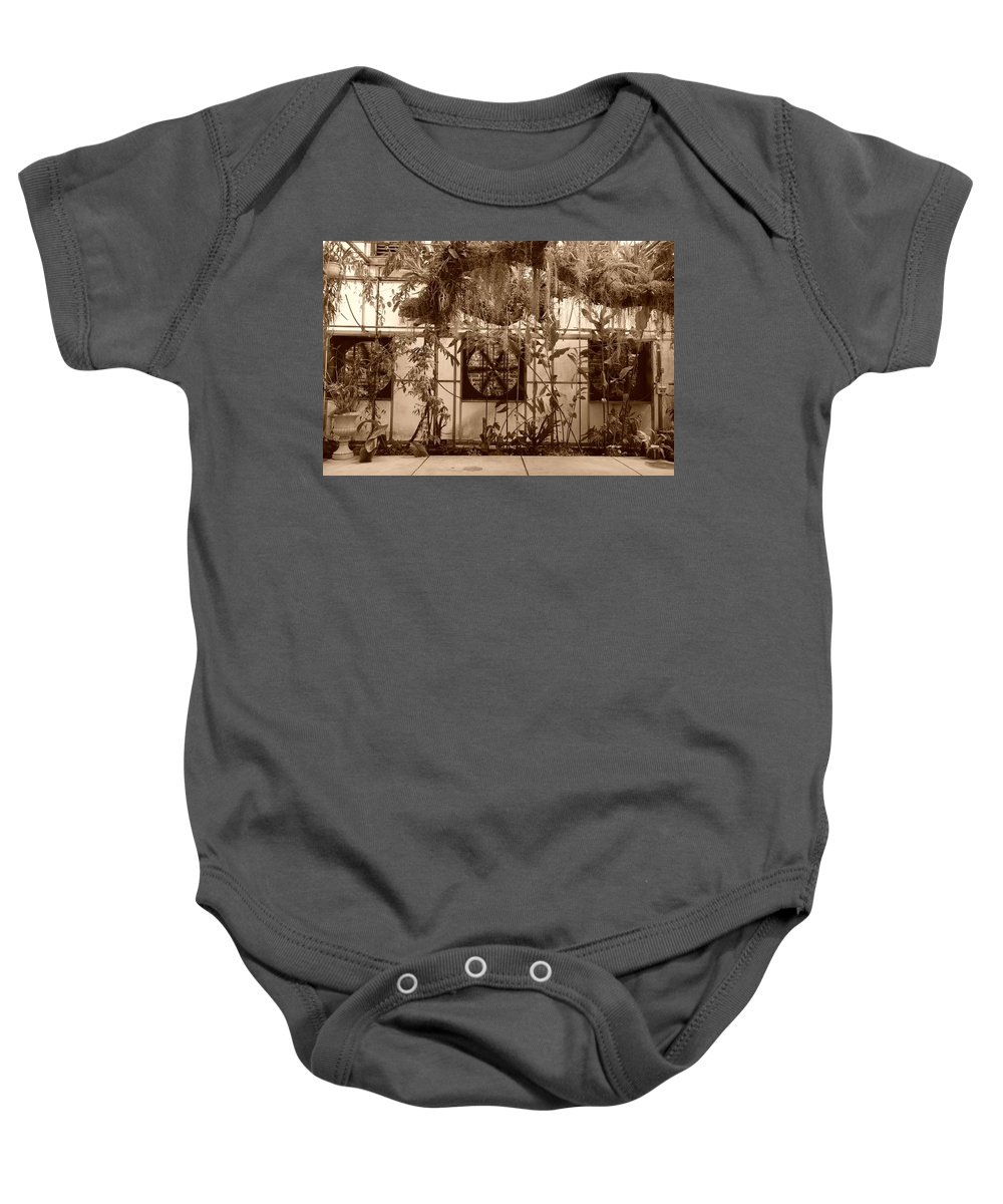 Vent Baby Onesie featuring the photograph 3 Fans And Vines by Rob Hans