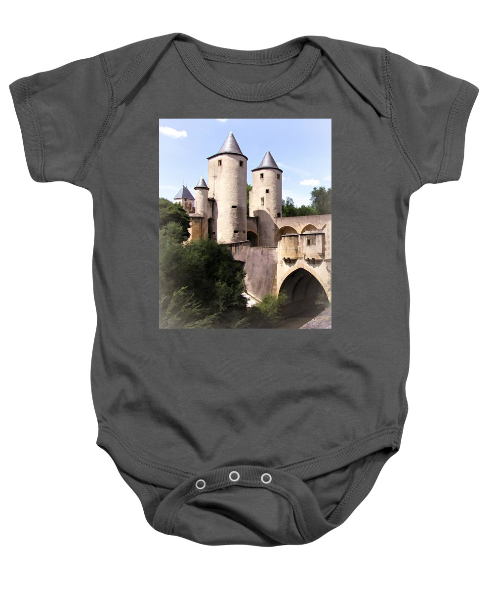 Europe Baby Onesie featuring the digital art Germans Gate - Metz, France by Joseph Hendrix