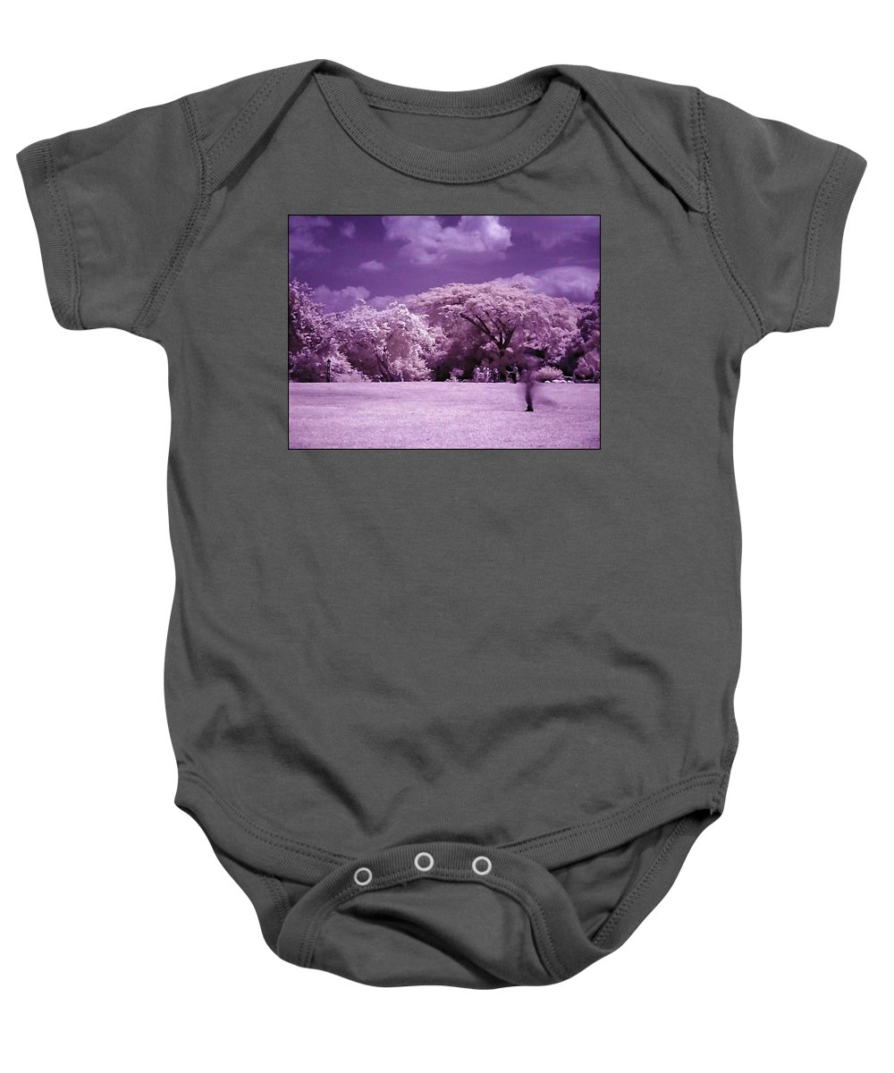 Infrared Baby Onesie featuring the photograph Magic Garden by Galeria Trompiz