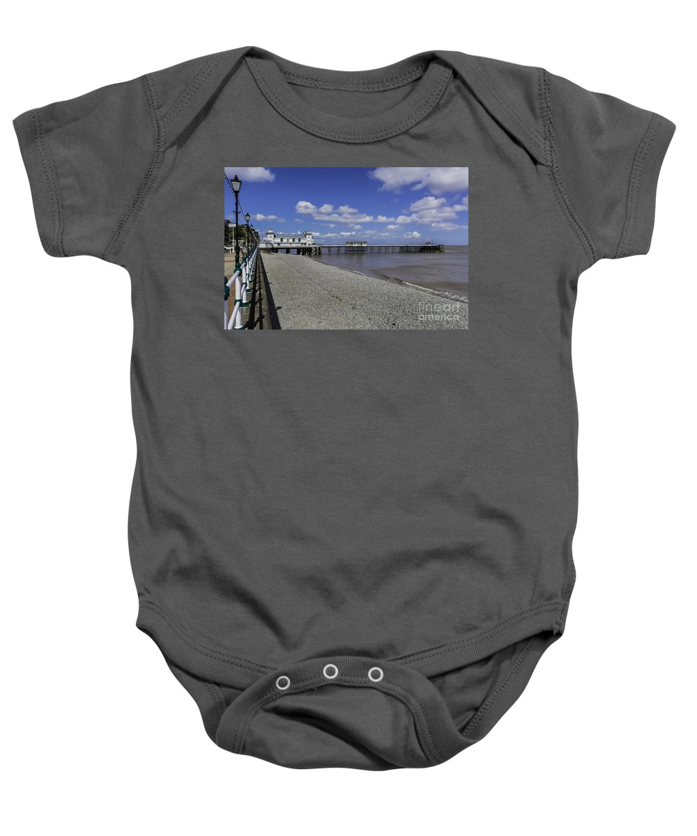 Penarth Pier Baby Onesie featuring the photograph Penarth Pier 3 by Steve Purnell