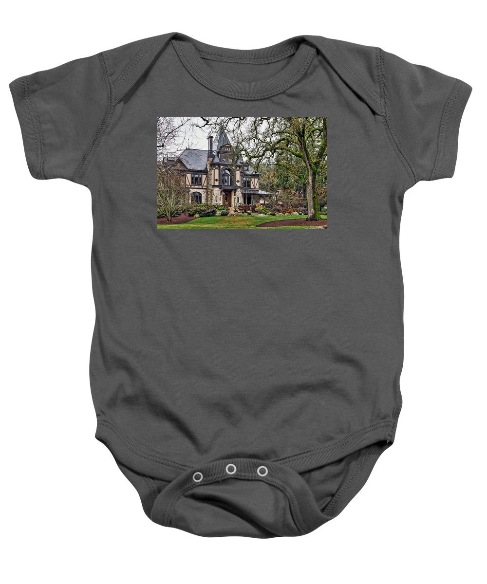 The Rhine House Baby Onesie featuring the photograph The Rhine House by Mountain Dreams