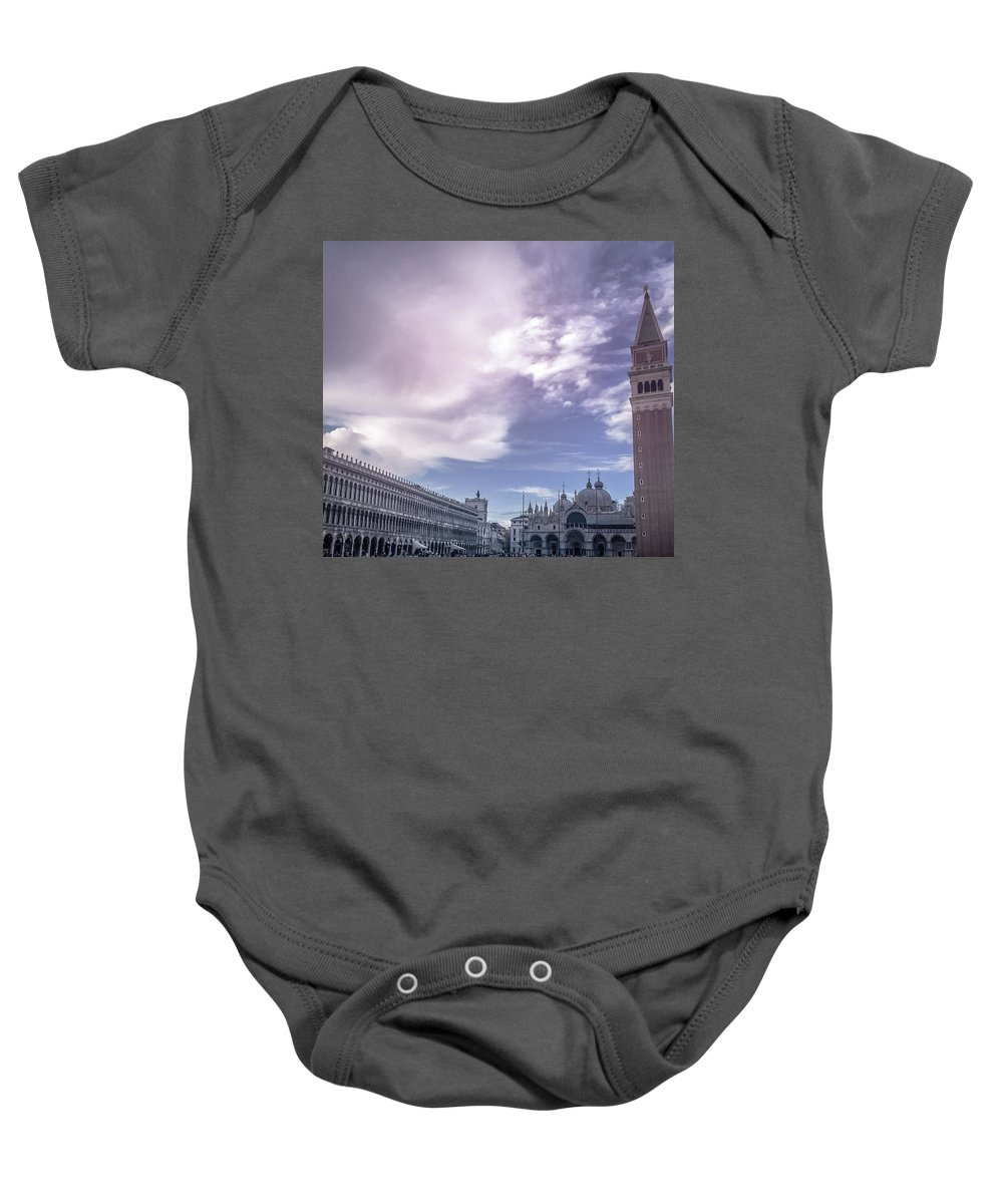 Venice Baby Onesie featuring the photograph Venice, San Marco by Chris Patel