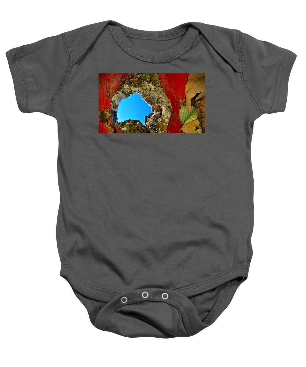 Abstract Baby Onesie featuring the photograph 377 At 41 Series 4 by Skip Hunt