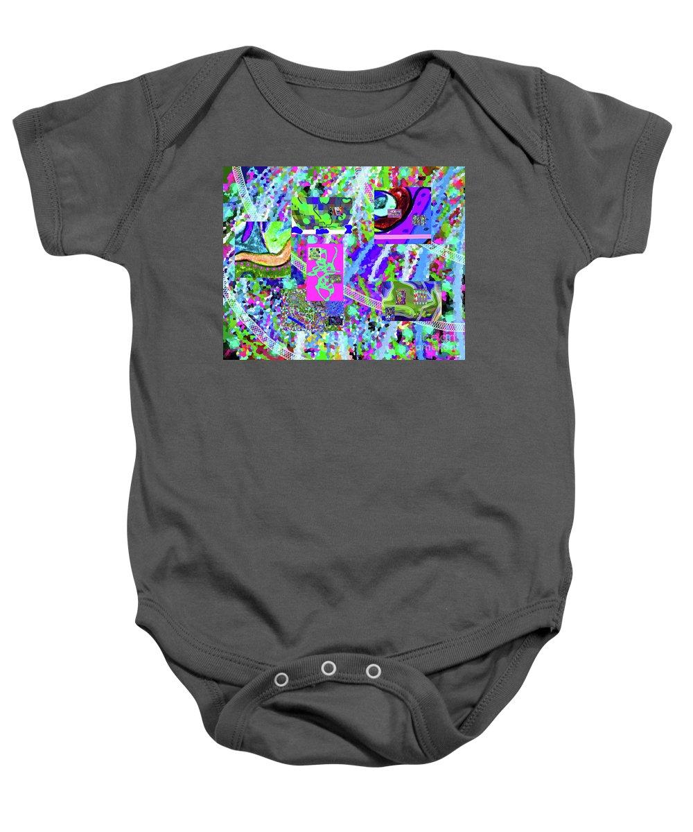 Walter Paul Bebirian Baby Onesie featuring the digital art 4-12-2015cabcdefghij by Walter Paul Bebirian