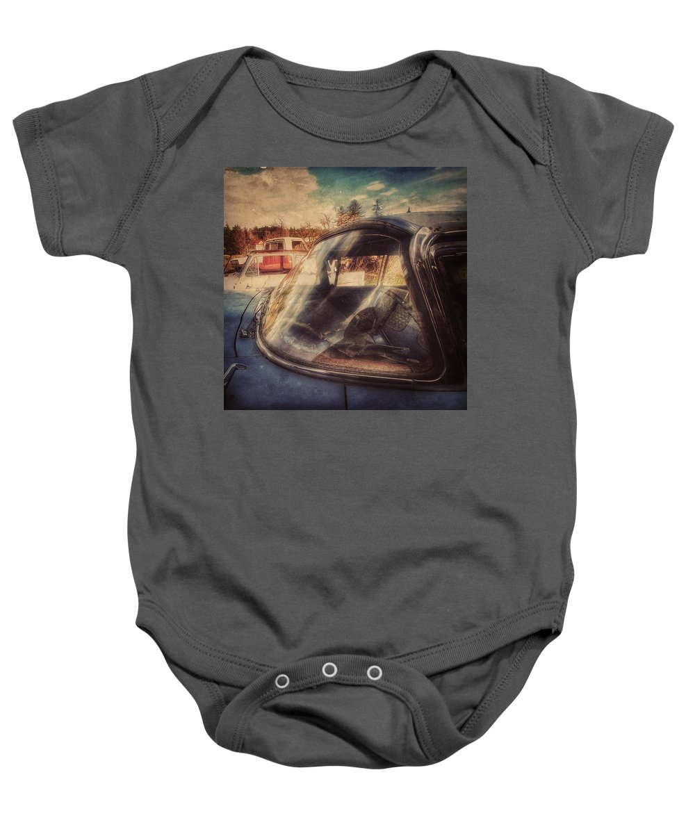 Transport Baby Onesie featuring the photograph Derelict Transport by Florian Raymann