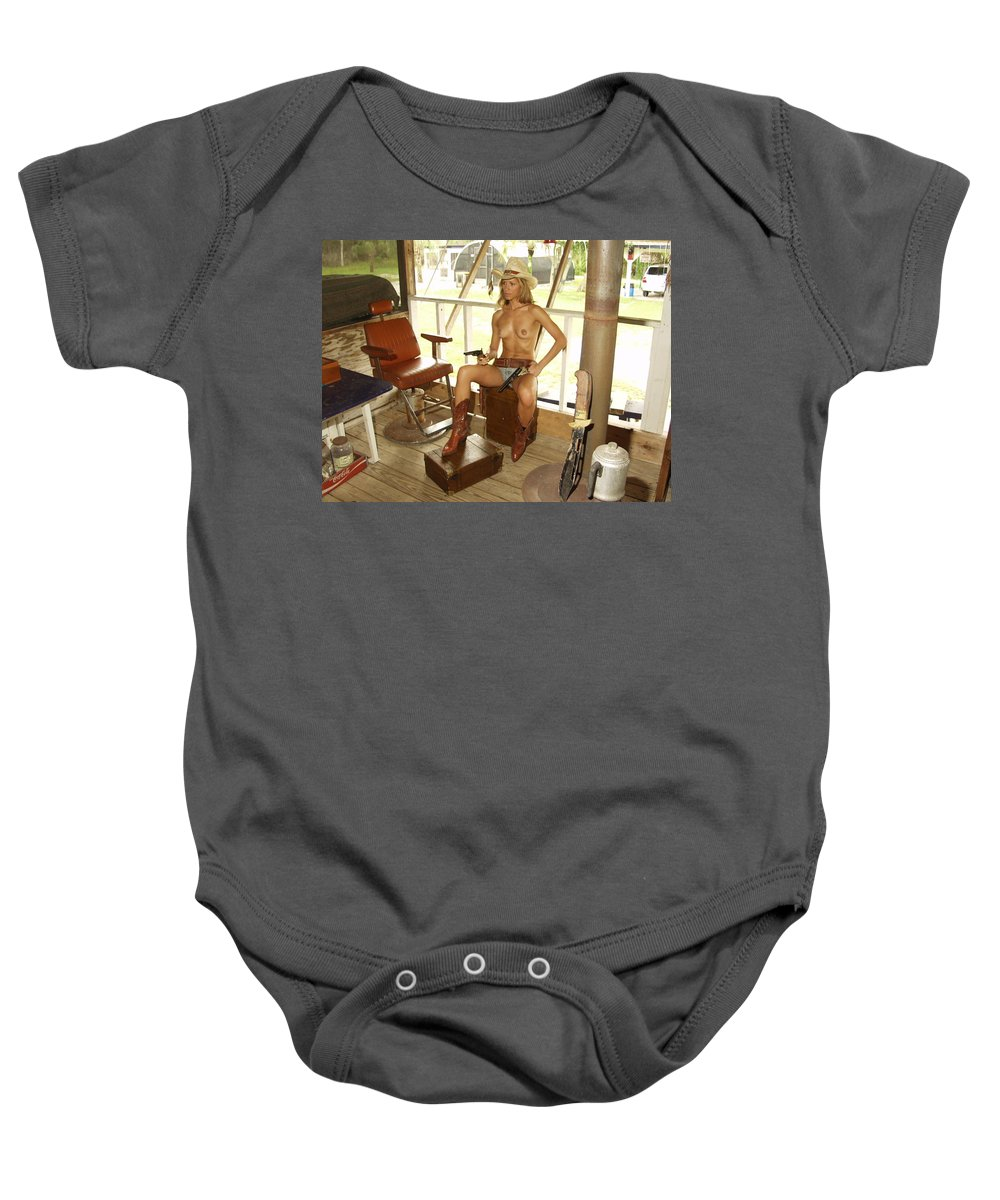 Lucky Cole Everglades Photographer Baby Onesie featuring the photograph Everglades Cowgirl by Lucky Cole
