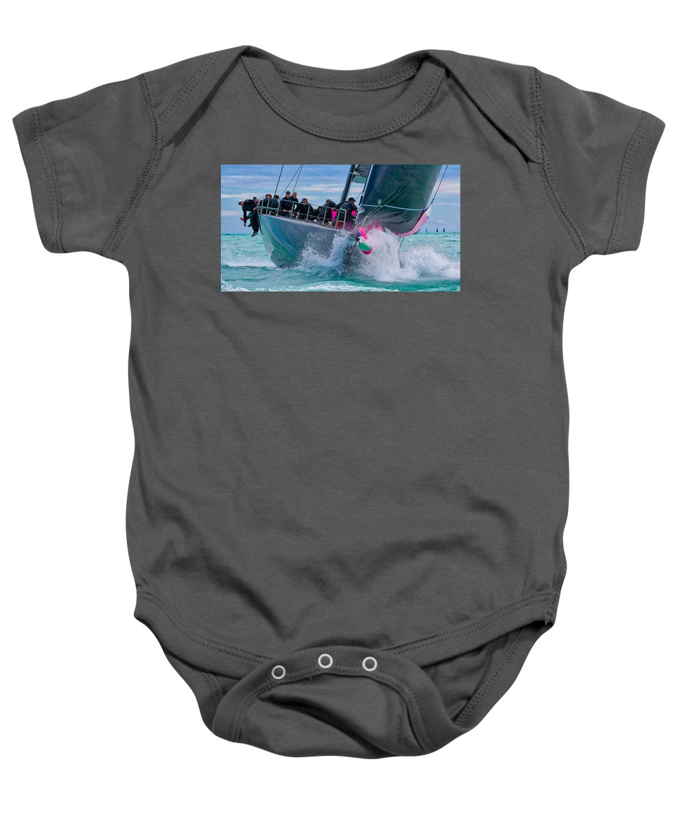Sail Baby Onesie featuring the photograph On Point by Steven Lapkin