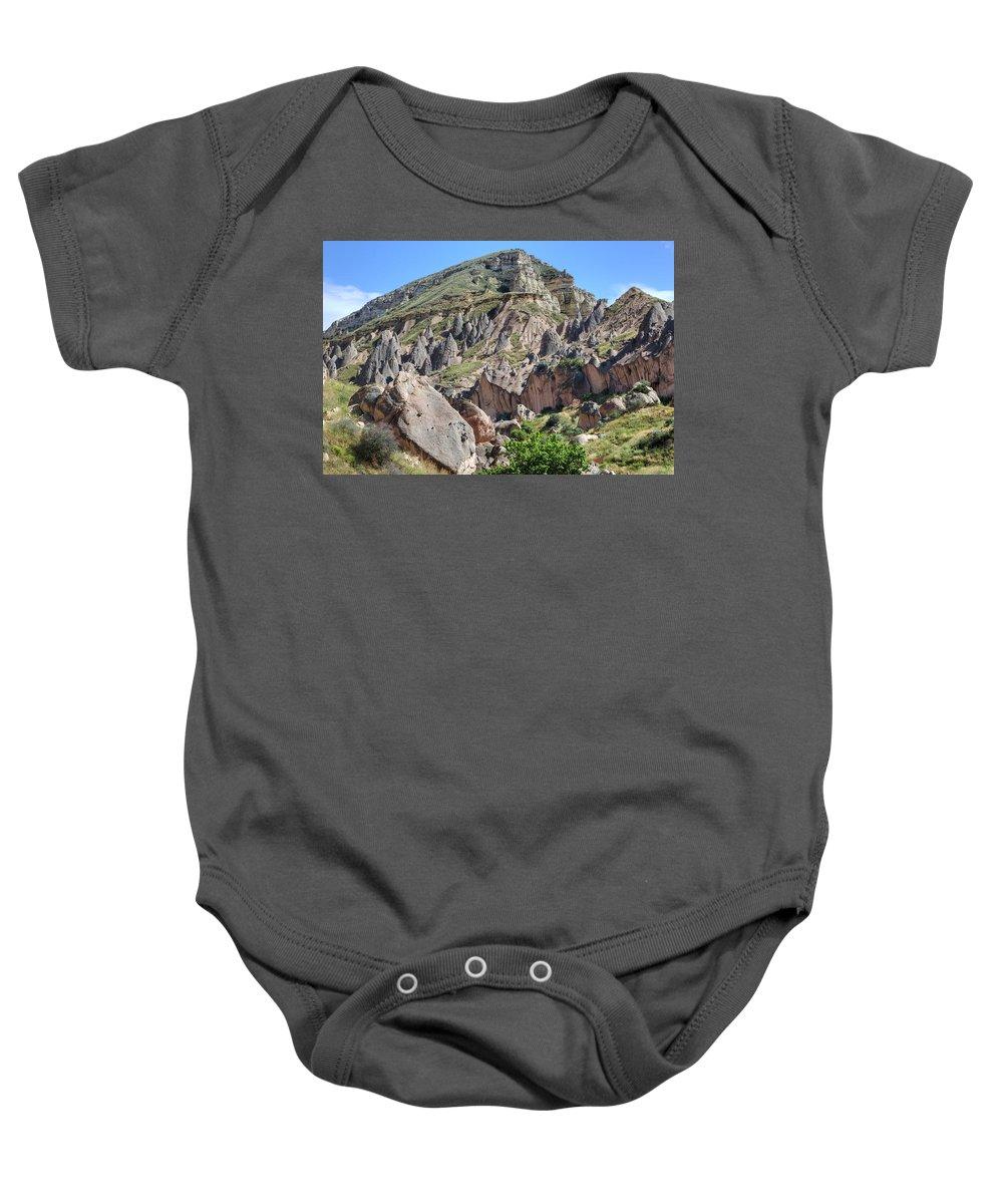 Zelve Baby Onesie featuring the photograph Cappadocia - Turkey by Joana Kruse