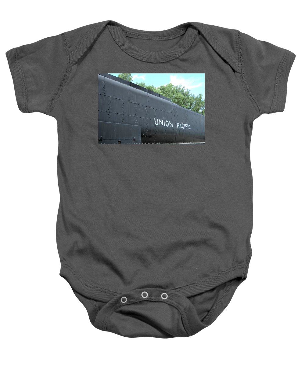 Steam Baby Onesie featuring the photograph 4004 Water Car by Wendy Fox