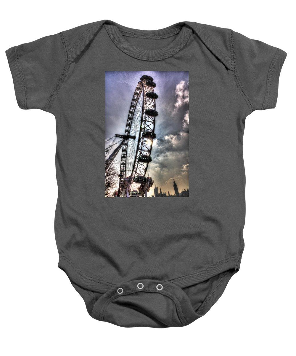 London Eye Baby Onesie featuring the photograph The London Eye by David Pyatt