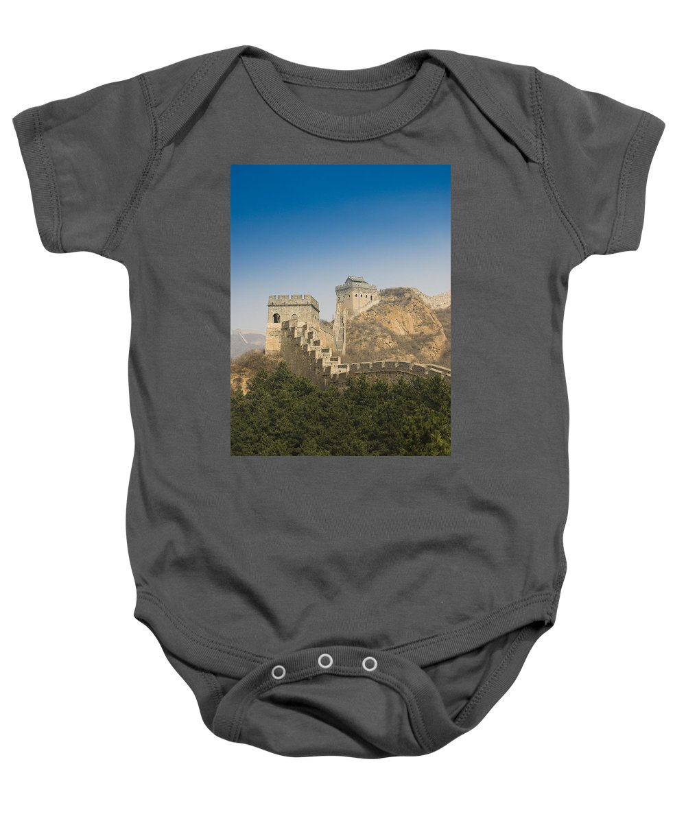 Ancient Baby Onesie featuring the photograph Great Wall Of China - Jinshanling by Gloria & Richard Maschmeyer - Printscapes