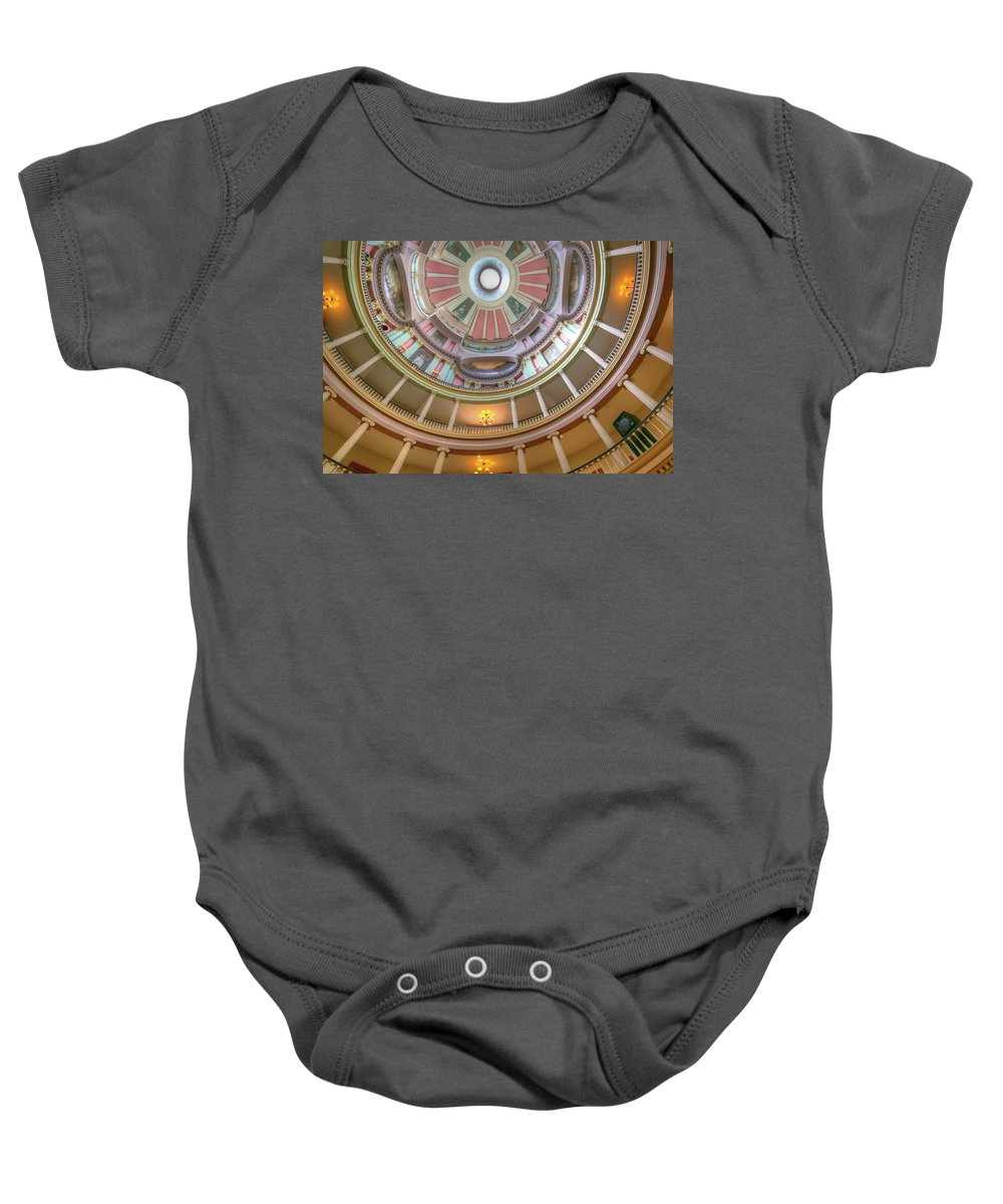 Old Courthouse Baby Onesie featuring the photograph Old Courthouse by Michael Munster
