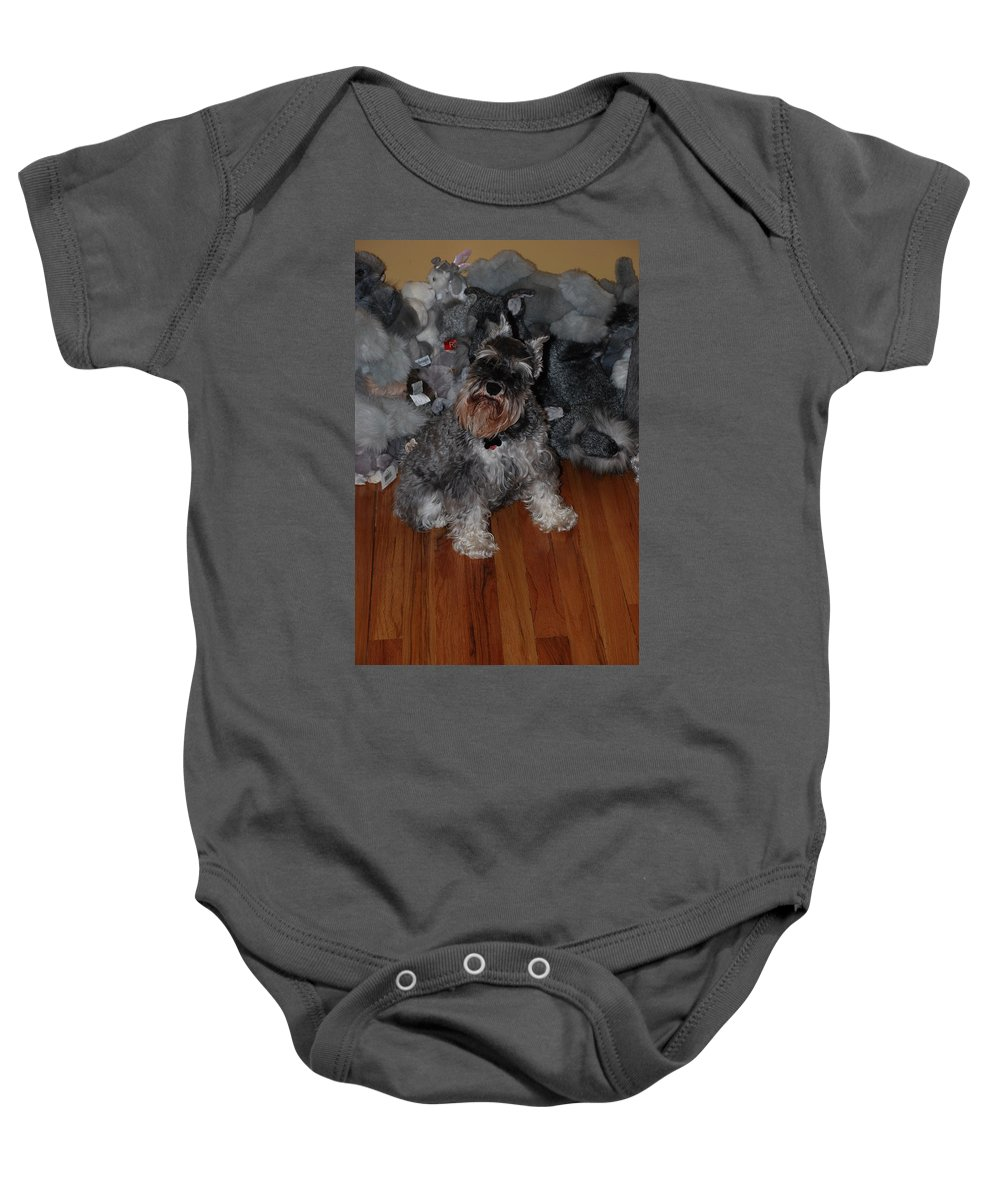 Dogs Baby Onesie featuring the photograph Stuffed Animals by Rob Hans