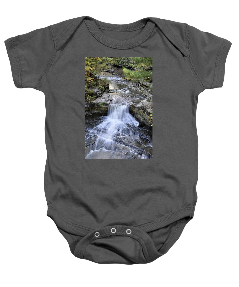 Water Baby Onesie featuring the photograph Waterfall by David Arment